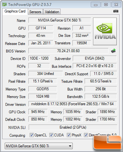 EVGA GeForce GTX 560 Ti 2Win Overclock