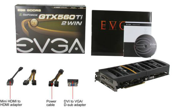 EVGA GeForce GTX 560 Ti 2Win Bundle