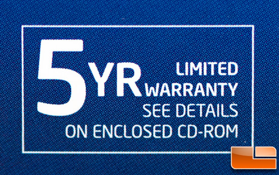 Intel 520 240GB 5 Year Warranty