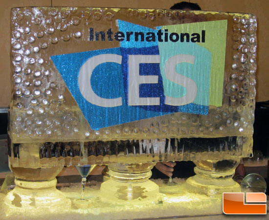 CES Unveiled 2012 Ice Sculpture