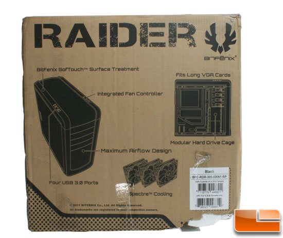 Bitfenix Raider box back