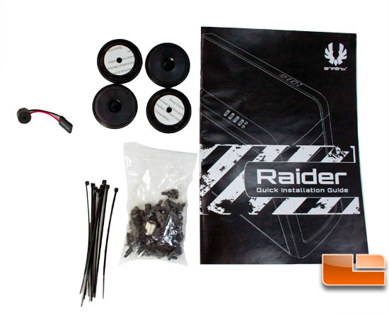 BitFenix Raider Package Contents
