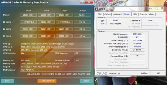 Kingston Hyperx overclocked CPUz AIDA