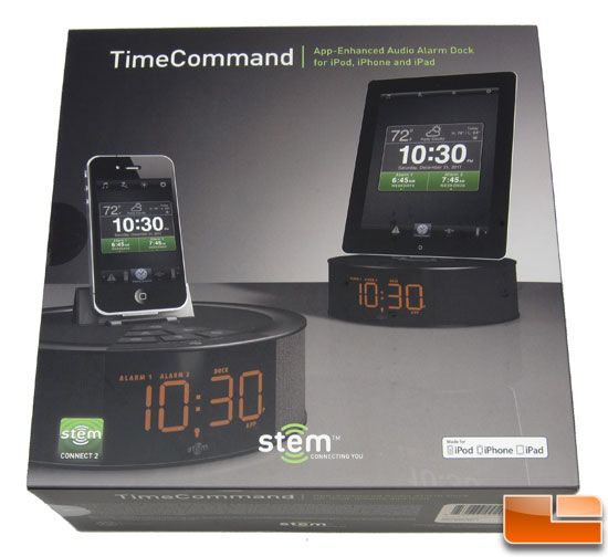 iPhone Stem Time Command Mini App-enhanced Audio Alarm Dock Speaker iPod iPad