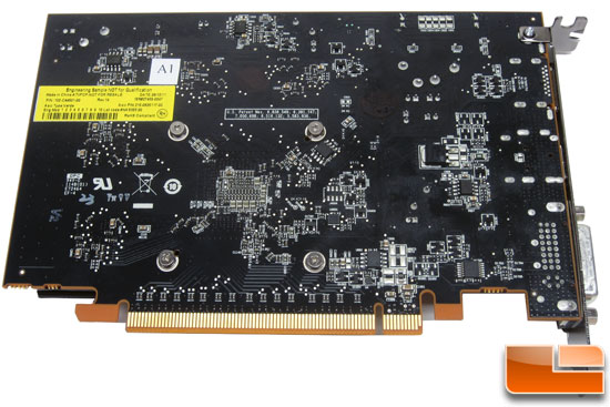 AMD Radeon HD 7750 Graphics Card Back PCB