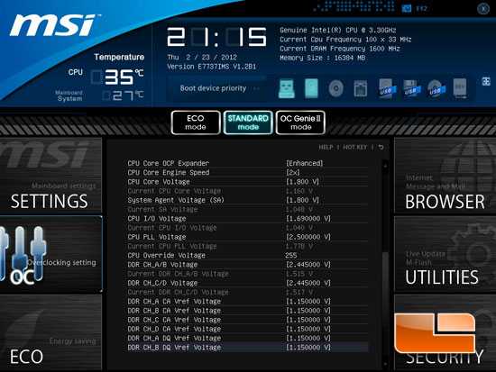 MSI Big Bang XPower II Click BIOS II