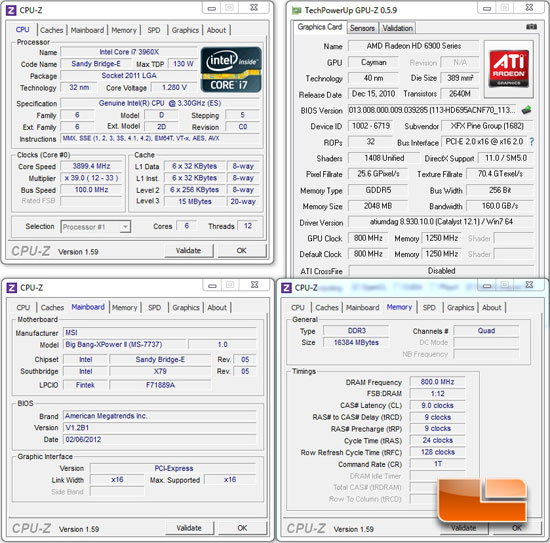 MSI Big Bang XPower II Intel X79 System Settings