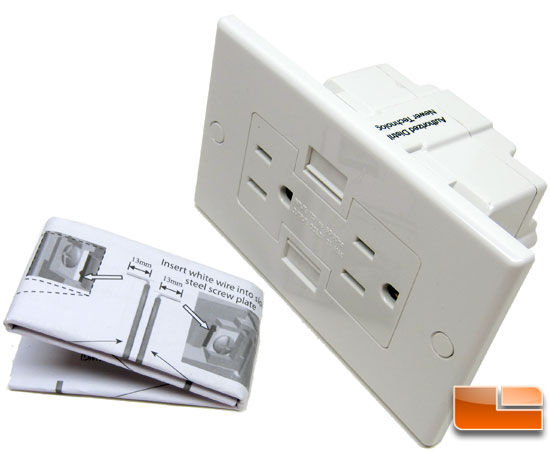 Power2U USB Power Outlet Instructions