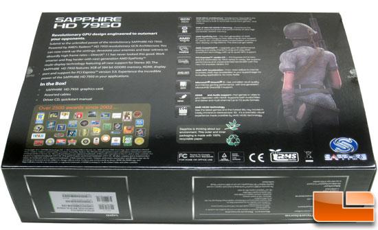 Sapphire Radeon HD 7950 Retail Box Back