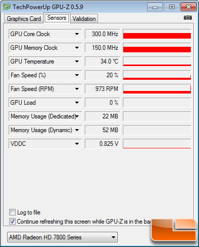 AMD Radeon HD 7870 2GB GPU-Z Idle