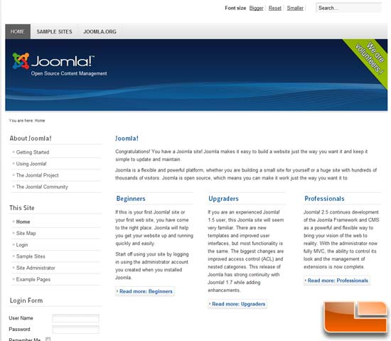 Joomla Sample Site