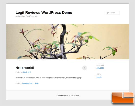WordPress Sample Site