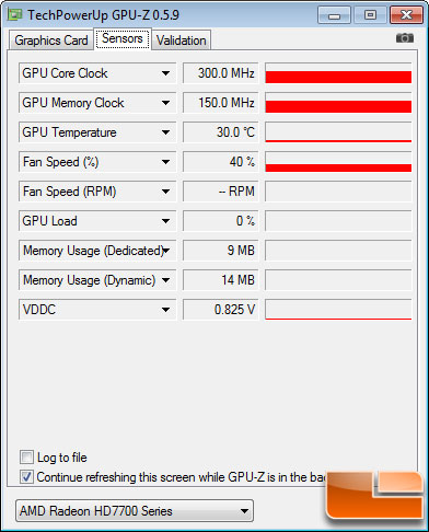 Gigabyte Radeon HD 7770 1GB GPU-Z Idle