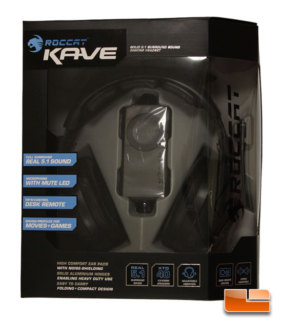 Roccat Kave Gaming headset box front