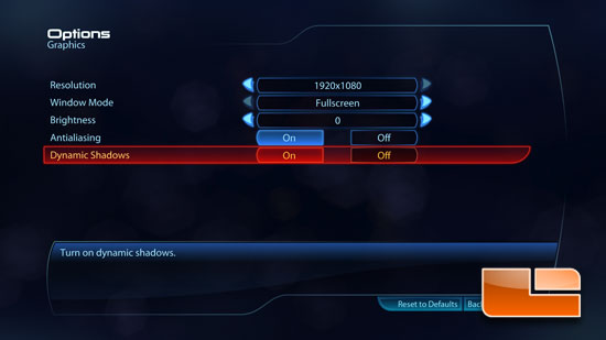 Mass Effect 3 Game Settings