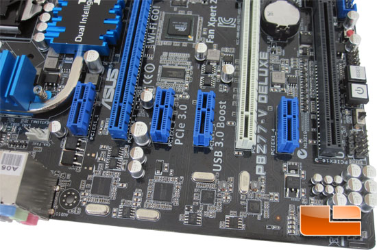 ASUS P8Z77-V Deluxe Motherboard Layout