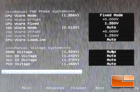 BIOSTAR TZ77XE4 'Ivy Bridge' Intel 3770K Overclocking