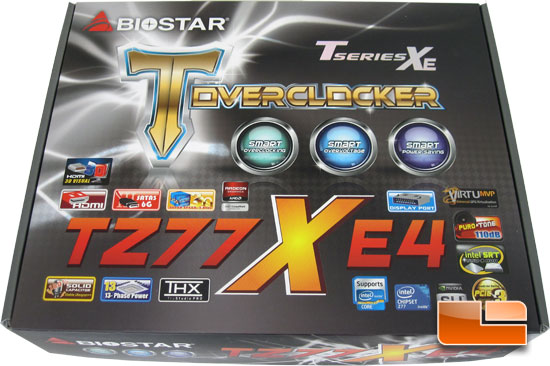 BIOSTAR TZ77XE4 Z77 Retail Packaging