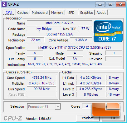 MSI Z77A-GD65 'Ivy Bridge' Intel 3770K Overclocking