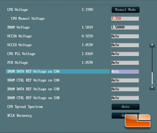 ASUS P8Z77-V Deluxe 'Ivy Bridge' Intel 3770K Overclocking BIOS Voltage Settings