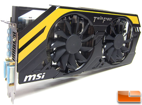 MSI R7970 Lightning Video Card Front