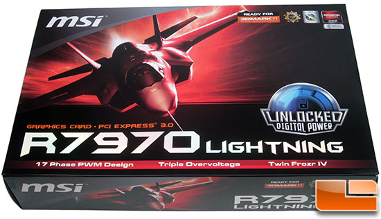 MSI R7970 Lighting Video Card Retail Box Front