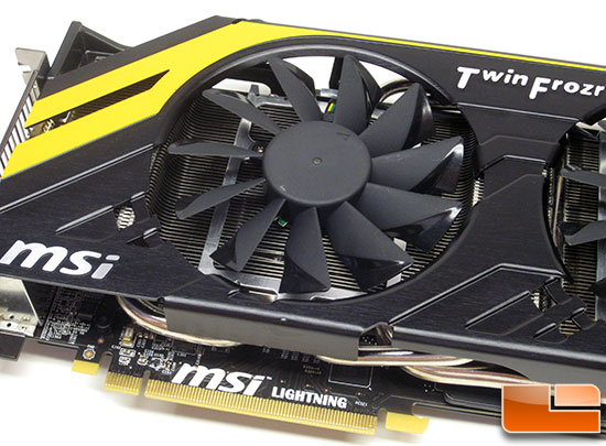 MSI R7970 Lightning Video Card Fan