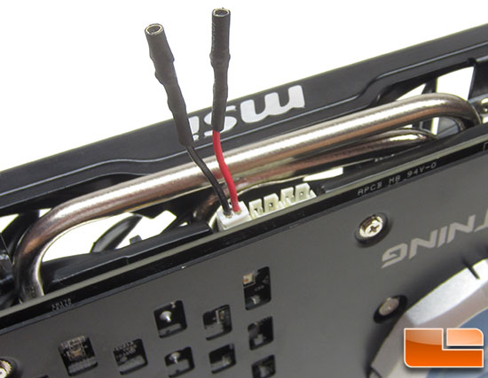 MSI R7970 Lightning Video Card Voltage Probes