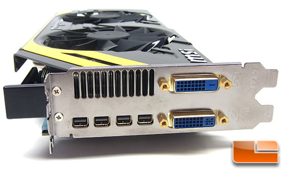 MSI R7970 Lightning Video Card Outputs