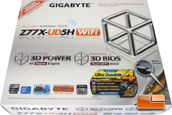 GIGABYTE GA-Z77X-UD5H WiFi Retail Packaging