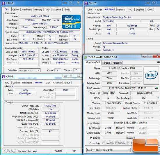 Intel X79 Test Settings