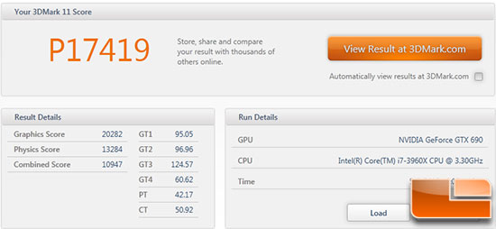 GeForce GTX 690 3DMark 11 Score