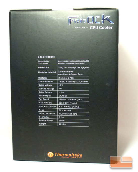 Thermaltake Frio OCK Box Side