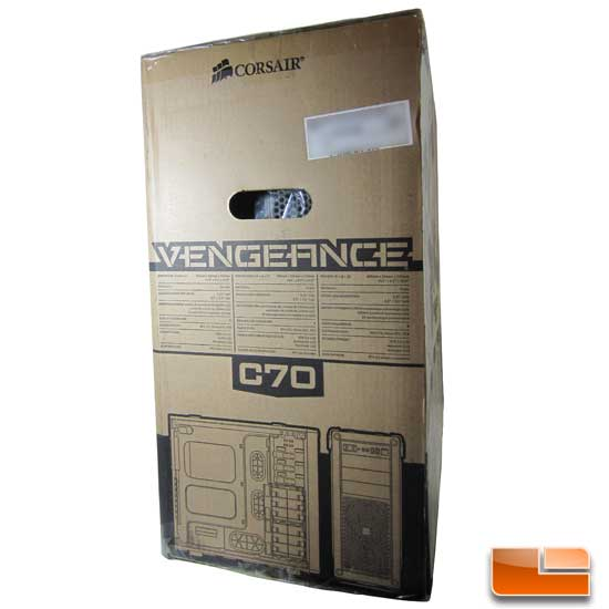 Corsair Vengeance C70 Left side of the box