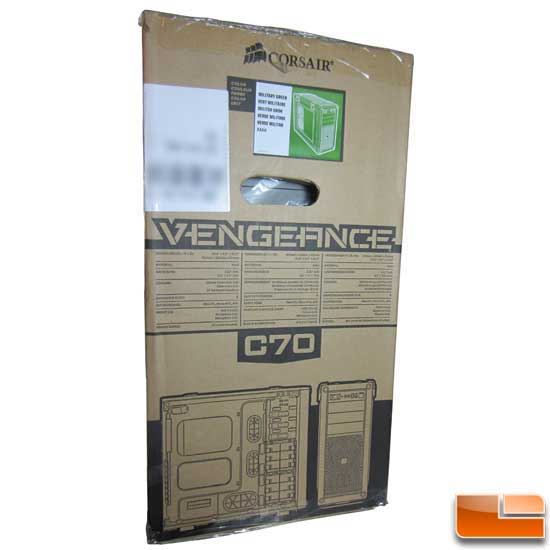 Corsair Vengeance C70 Right side of the box