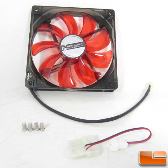 Prolimatech Red Vortex 14 LED Fan