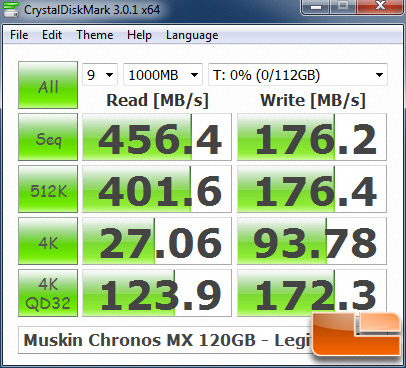 Mushkin Chronos Deluxe MX 120GB CRYSTALDISKMARK P67