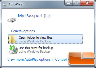 WD My Passport Drive Popup