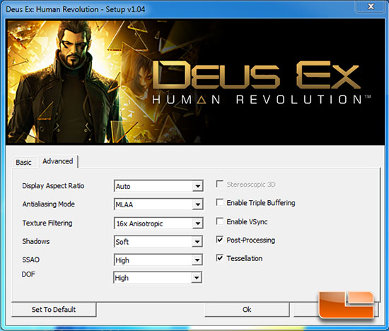 Deus Ex Settings