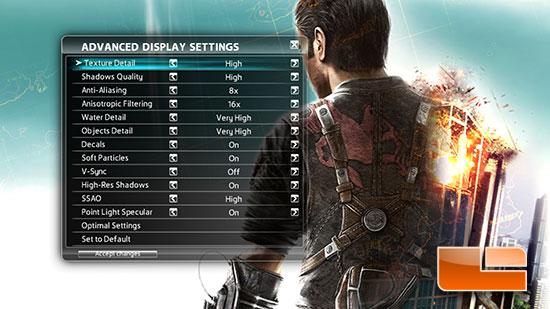 Just Cause 2 Settings