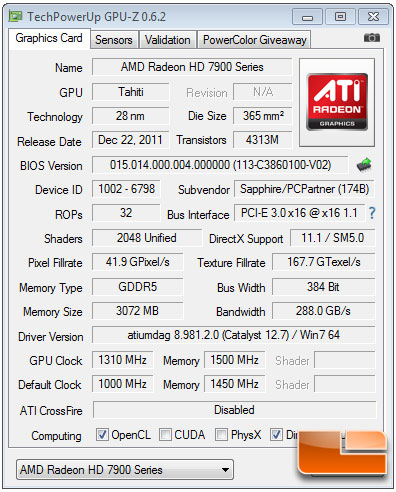 AMD OverDrive Radeon HD 7970 Overclock