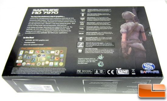 Sapphire Radeon HD 7970 OC Retail Box Back