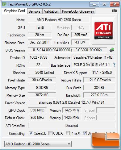 Sapphire Radeon HD 7970 OC BIOS 1