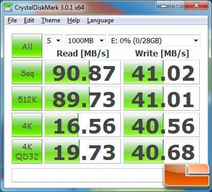 Crucial Adrenaline m4 50GB CrystalDiskMark