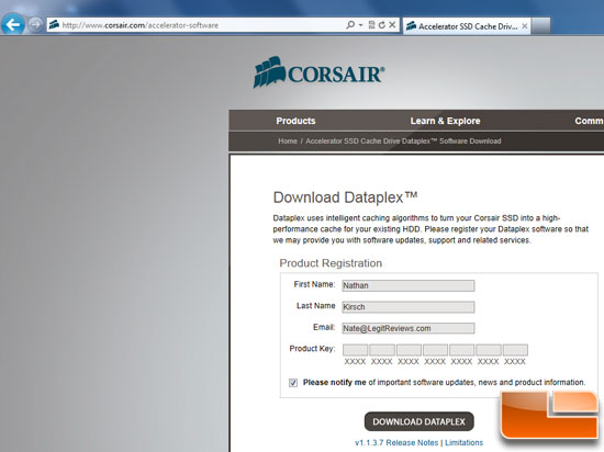 Corsair Accelerator Software