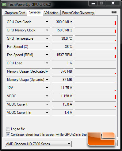 XFX 7870 Idle Temperature