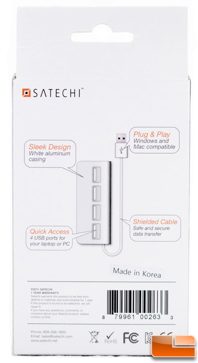 Satechi Aluminum 4 Port USB 2.0 Hub