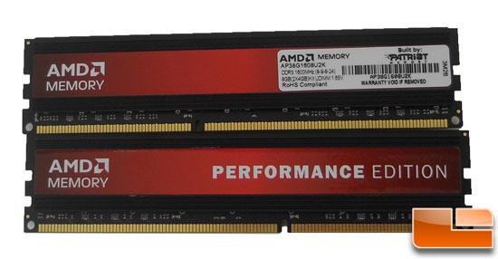 AMD 8GB 1600 MHz Performance Edition Memory Kit Review
