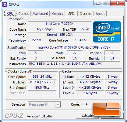 EVGA Z77 FTW Intel Z77 Ivy Bridge Overclocking