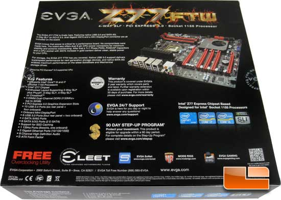 EVGA Z77 FTW Retail Box and Bundle